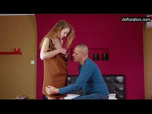 image Virgin alesya being seduced by a porn actor