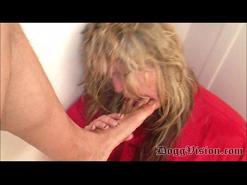 Blonde BBW Swallows Piss, Sucks Toes, Licks Ass