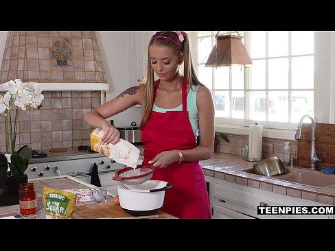 TeenPies - Pigtailed Avery Adair begs for creampie