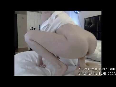 Gorgeous Blonde Camgirl Riding Dildo