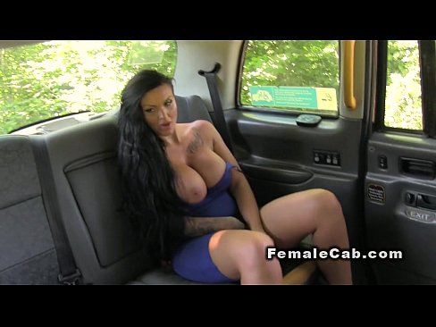 Redhead cab driver licks huge tits brunette lesbo