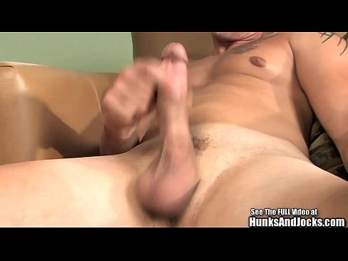 Dark curly hair cutie Kyle jacks his cock