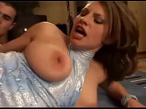 Amazing busty brunette german girl fucked hard on the couch BIG ...