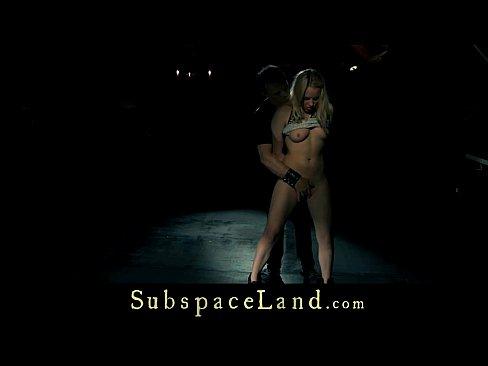Punished and fucked, sub slave is disciplined with bondage humiliation