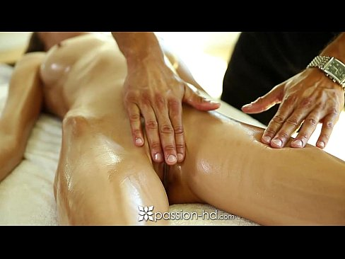Passion-HD - Victoria Rae Black enjoys a sensual massage and some hard cock