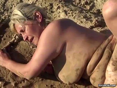 Granny Foursome Fucking In The Mud