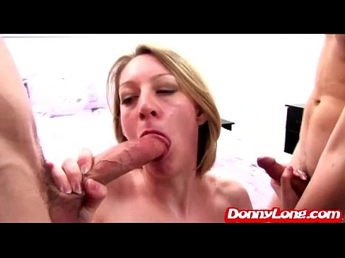 Donny Long tag team pounds milf fake big titty ...