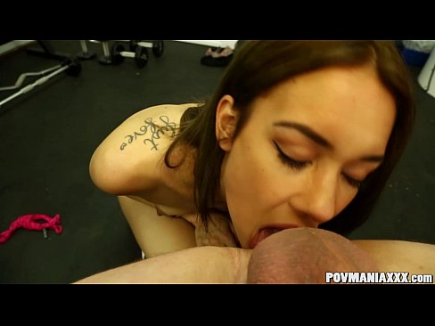 Slim babe Mila Blaze giving head POV