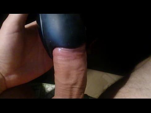 Handjob with vibrator