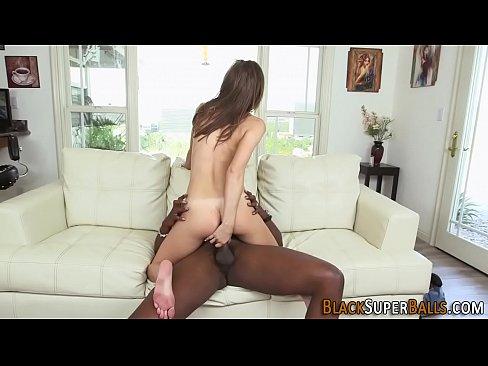 Slut gobbles black shlong