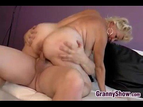 Thick And Horny Granny Sucks And Fucks