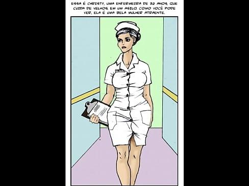 hentai infermeira ajudando o velhinho negro da rola bem grossa