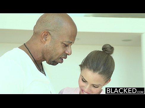BLACKED Brunette Teen Takes Monster Black Cock