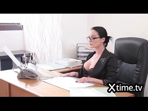 Italian business woman hiring a man because of ...