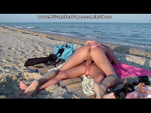 Casal Amador No Sexo Amador Na Praia