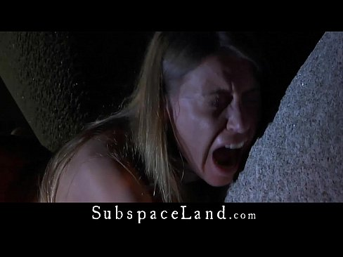 Allowed to scream like a slut slave is punished on ruins than cum swallow