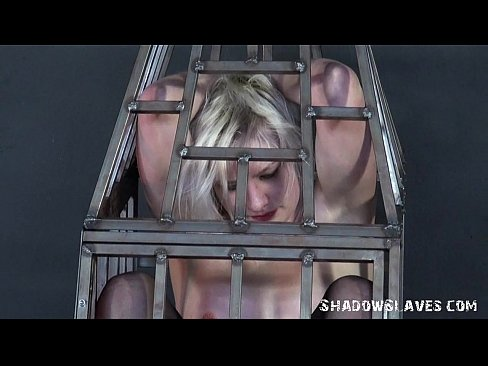 Caged blonde teen submissive punished and enslaved young cha 3