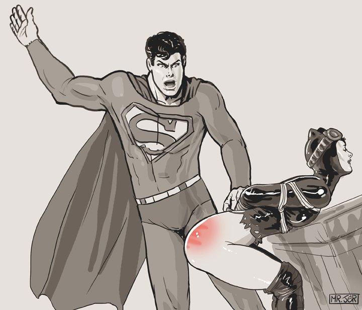 Superhero girl porn spanked