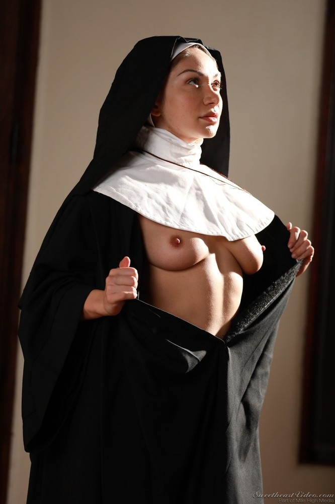 Naked young nun — img 1