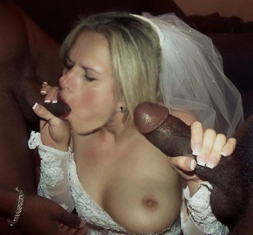 Slut brides sucking