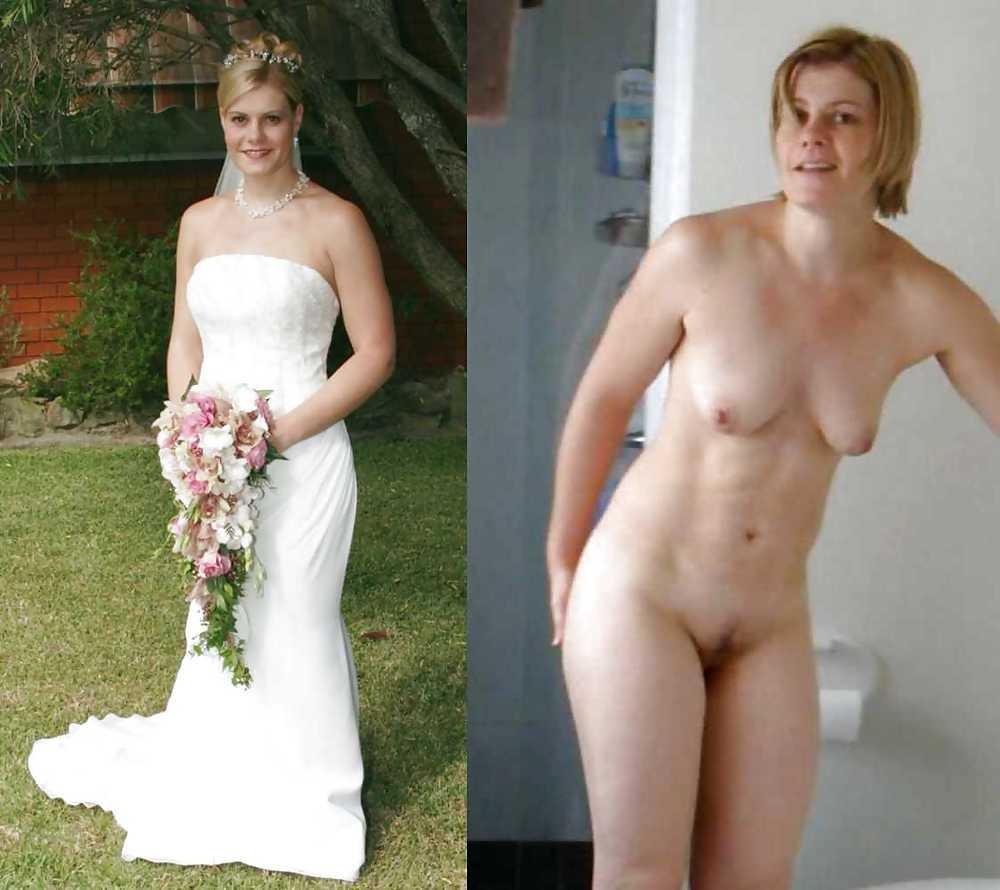 Naked bride after wedding, naked beach image