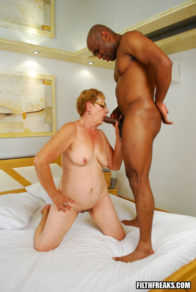 German Granny fucked by black man Part 2