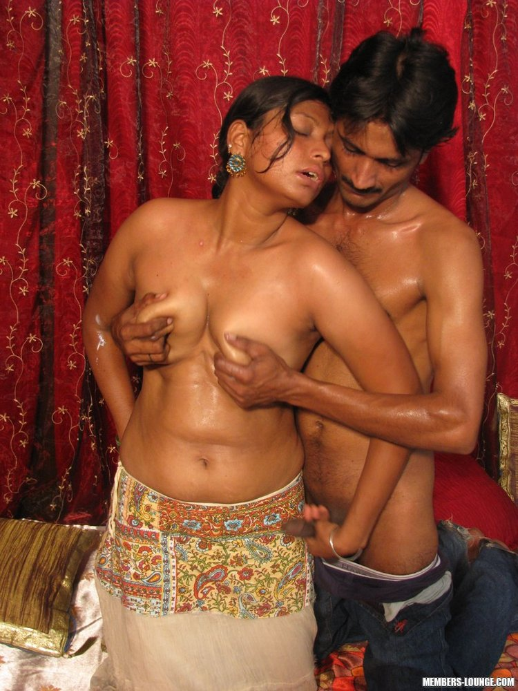 Naked indian hugging, fucked with buttplug