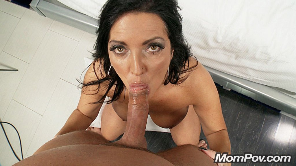41 year old soccer mom with big tits fucks a dildo - 1 1