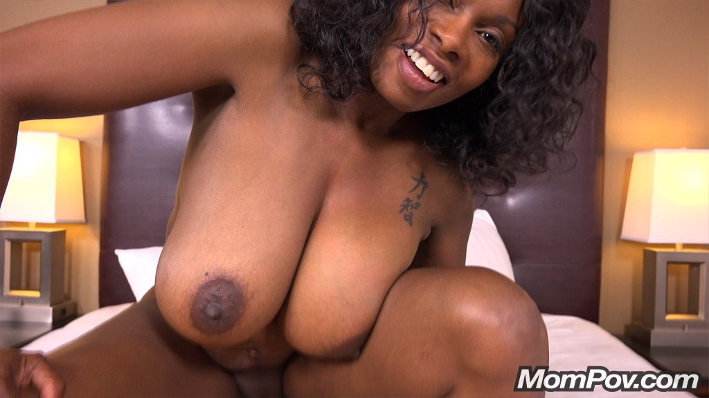 47 Year Old Black Milf Has Epic Natural Tits - Part 2 -8485