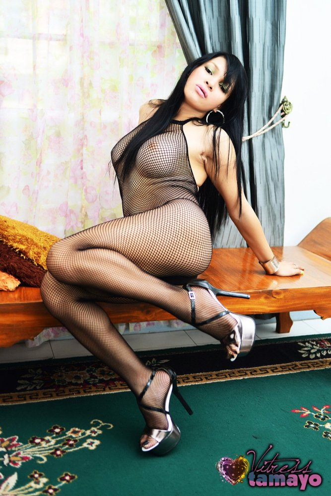 high heels and in lingerie Shemales