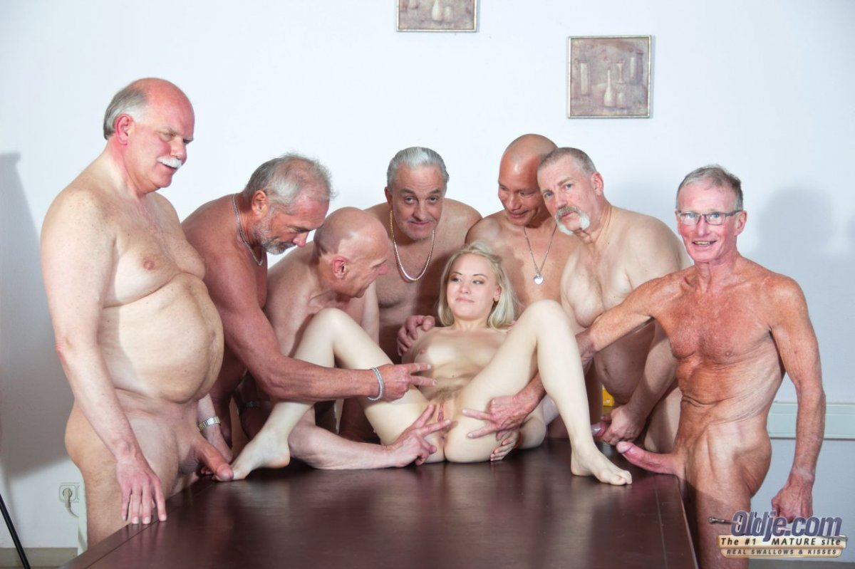 Old men gang bang young girl