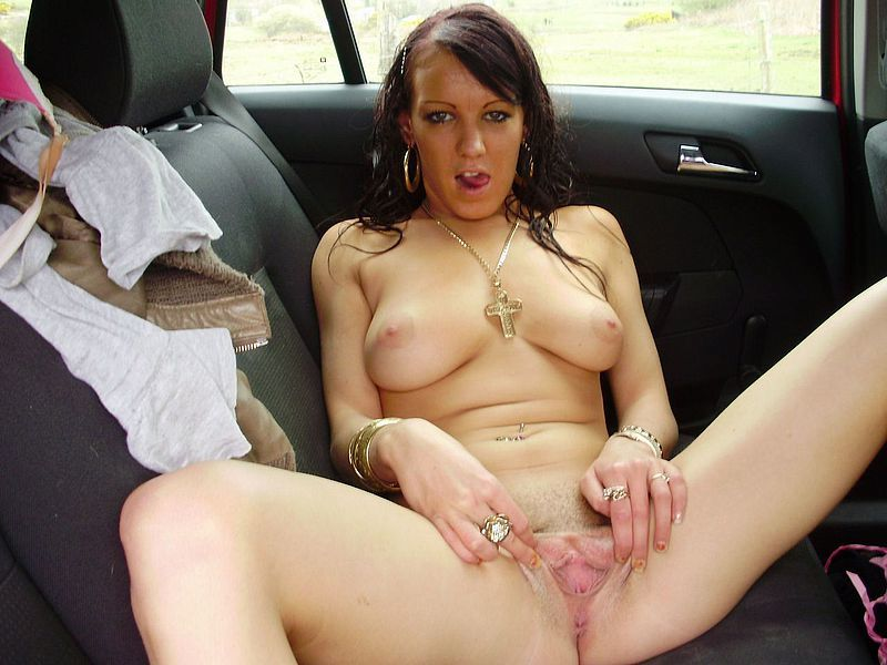 Glamorous Amateur Car Finger Fuck Fingering Fresh Fun Housewife Clothed Masturbation Photos 1