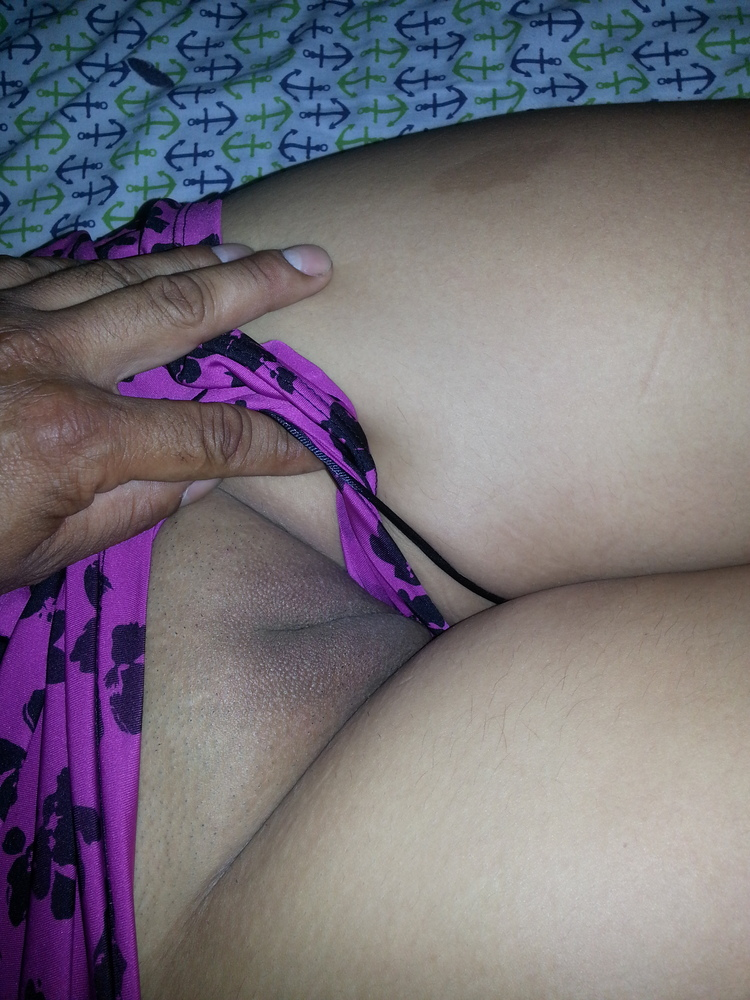 Interracial sleeping pussy with silky slips