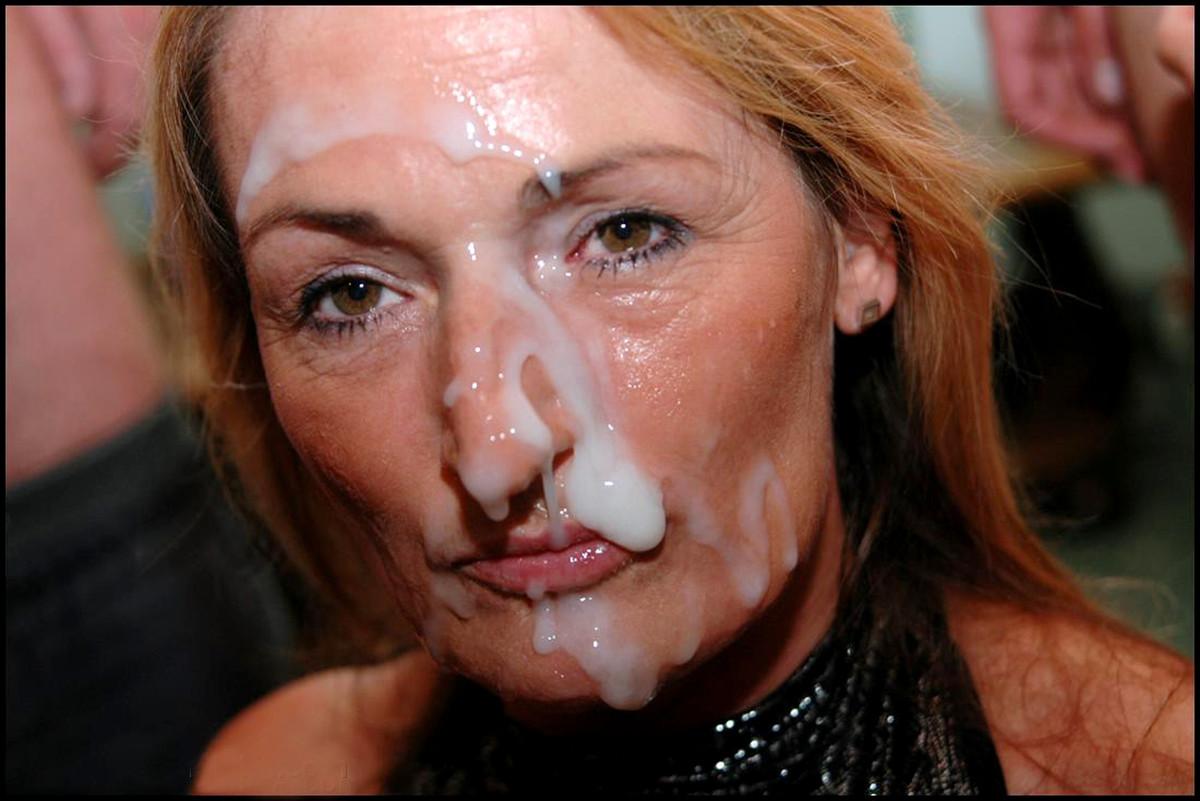голые женщины в сперме на лицо приоткрытого рта вылетает