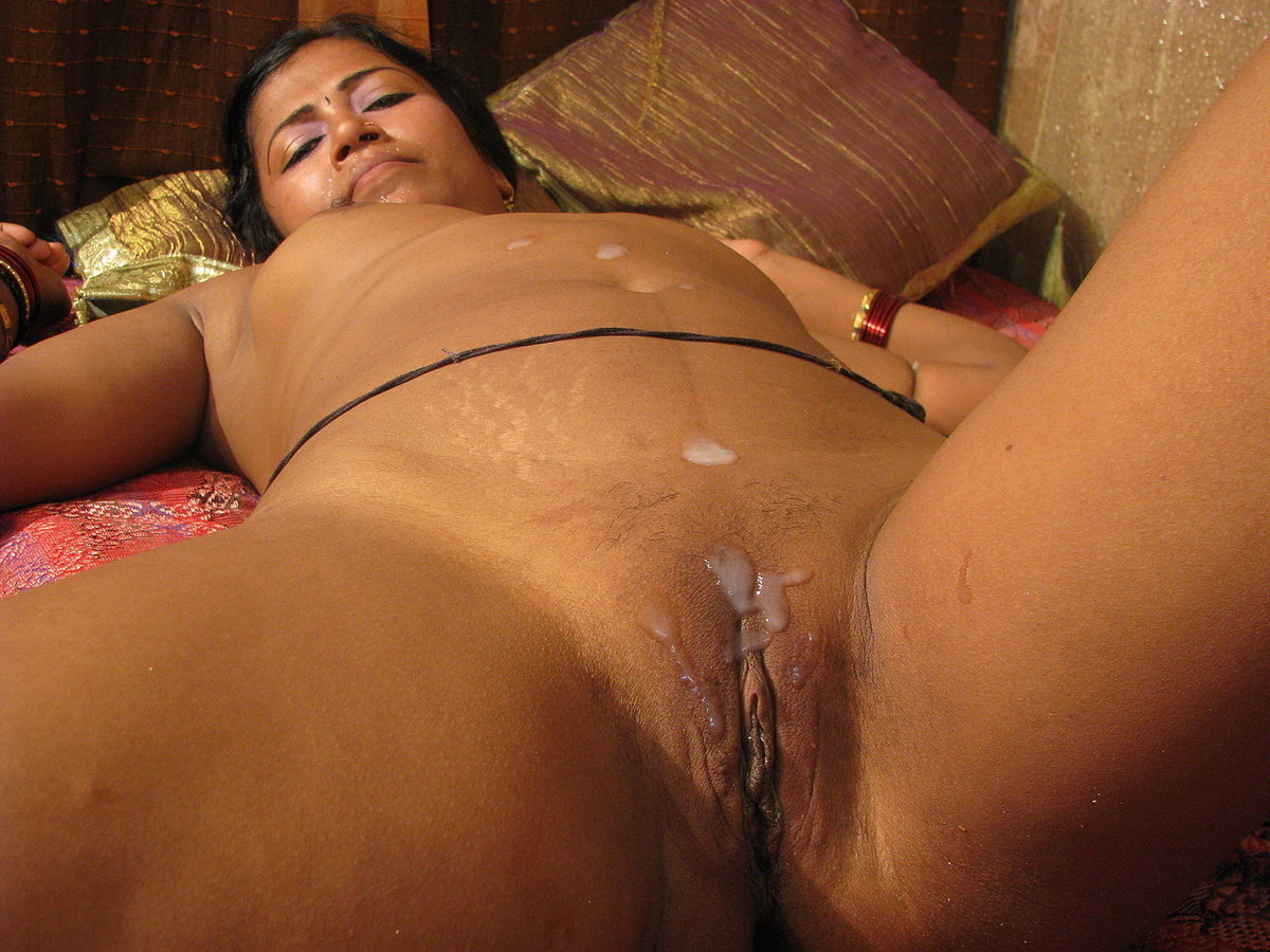 Cum filled indian pussy, hair styles black and blonde
