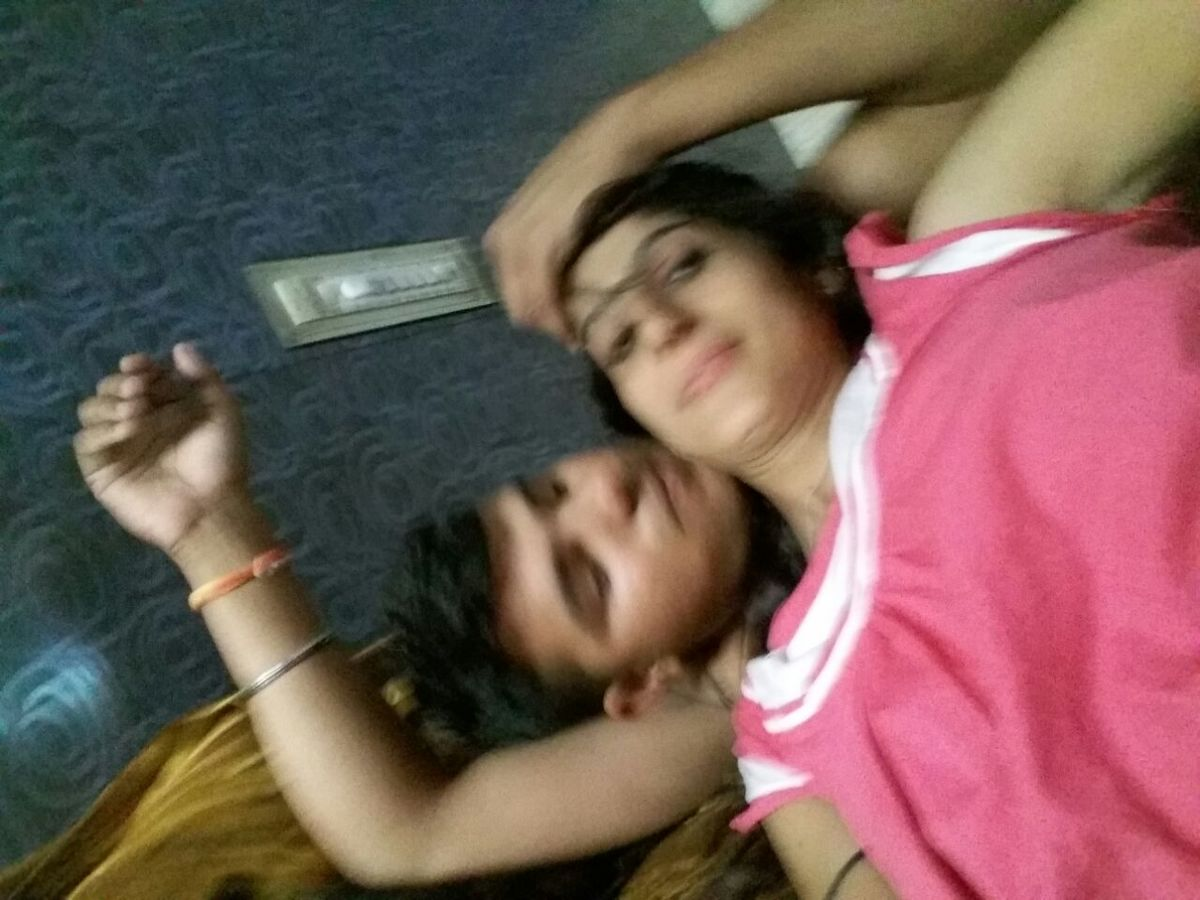 Young Pushvinder kaur with her lover, Photo album by