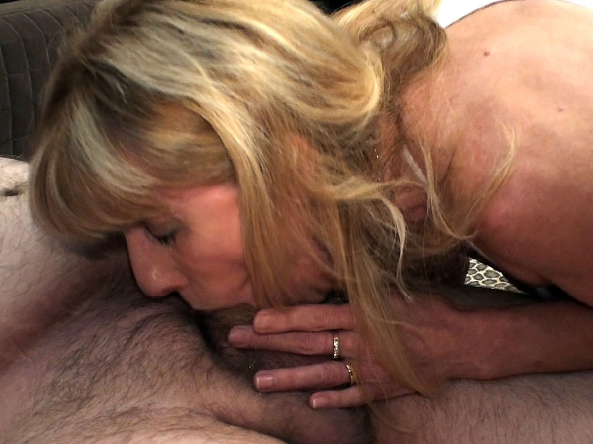 image Piss drinking milf playing with cum