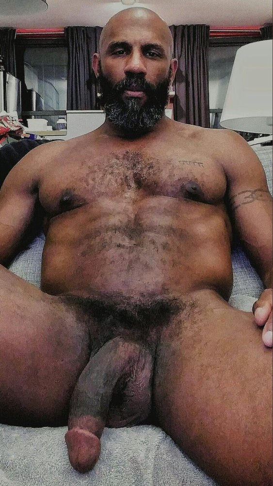 Naked black men hairy chest