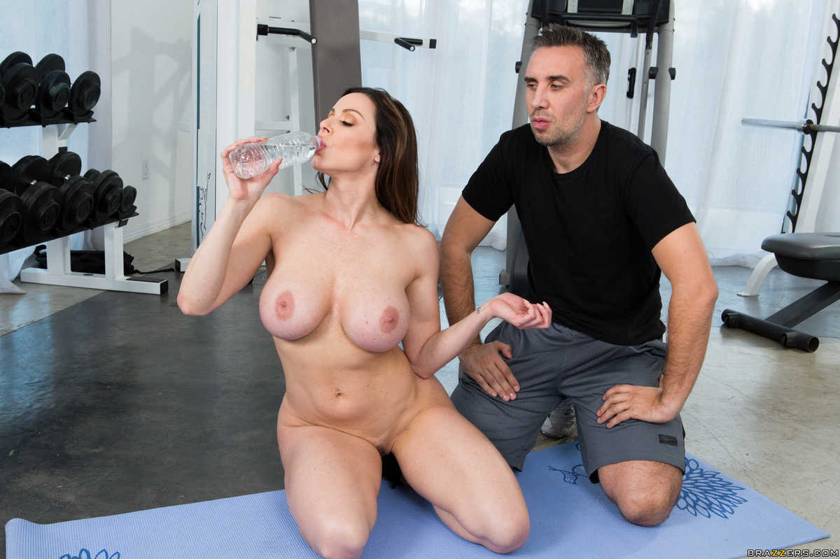 Hot milf working out with guy