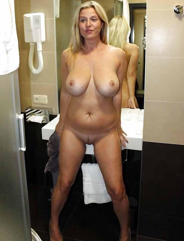 Blonde Mature Big Tits Glasses