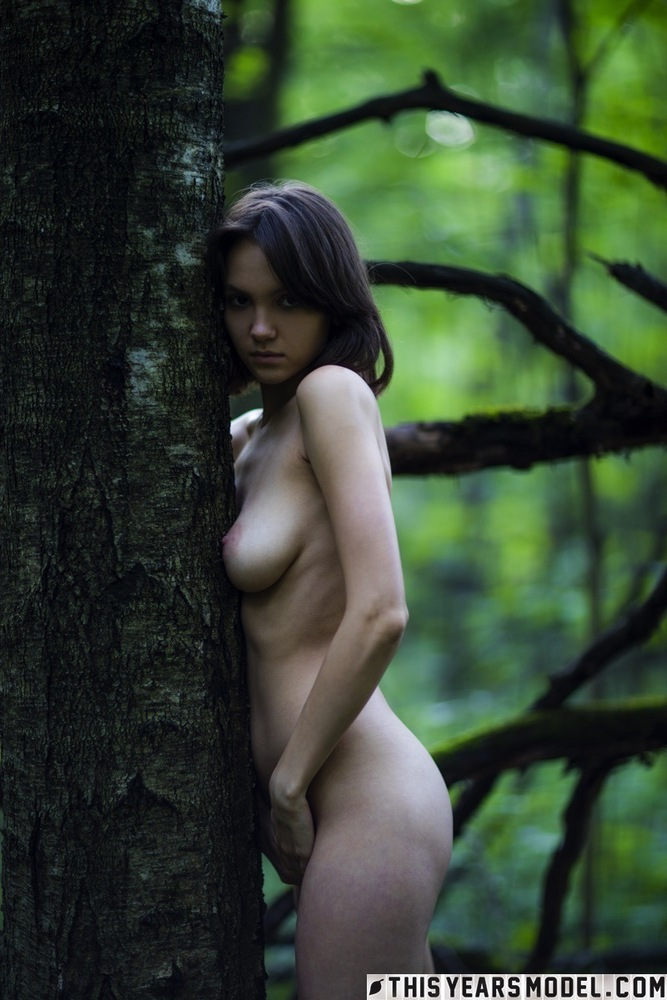 Alisha naked in the woods pictures