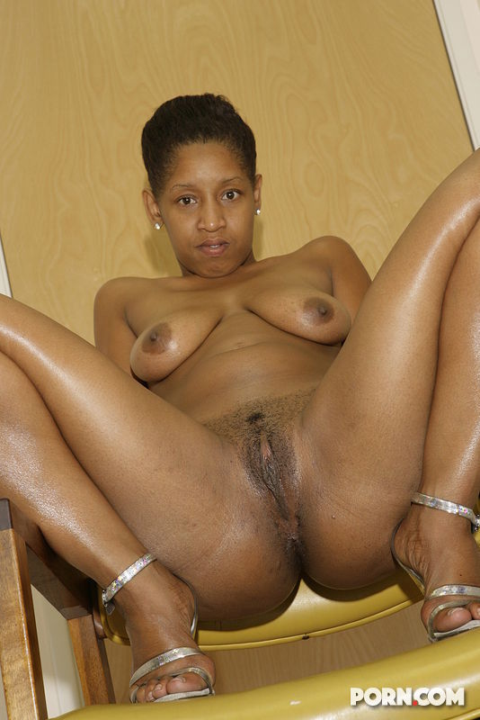 Nude Woman Spread Black