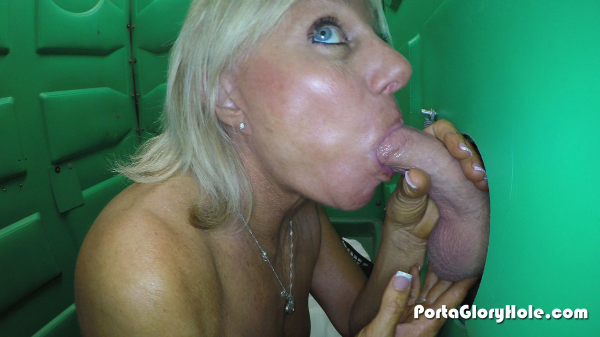 porta gloryhole mature babe swallows lots of cum photo
