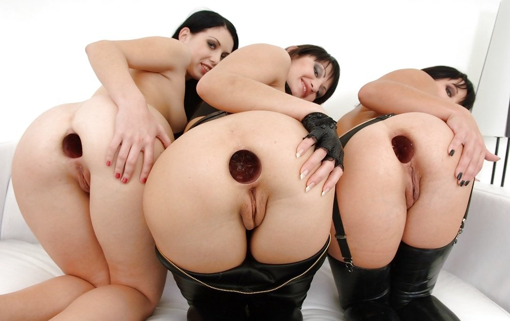 Lesbians Gaping Booty Holes Selection 1