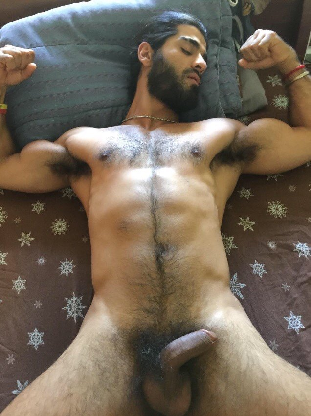 Nude hairy indian male 5