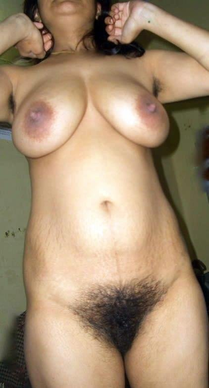 Thick indian with a hairy pussy, sexy naked body massage