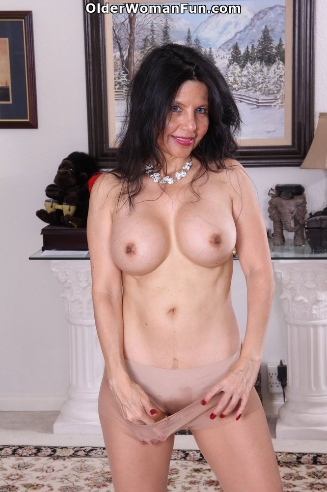 50yearold milf karolina strips out her gypsy flowing cloth 1