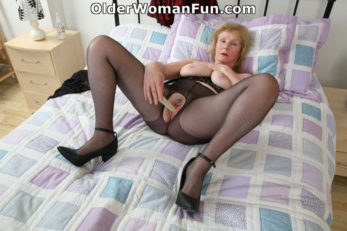 All xold women in black pantyhose consider, that