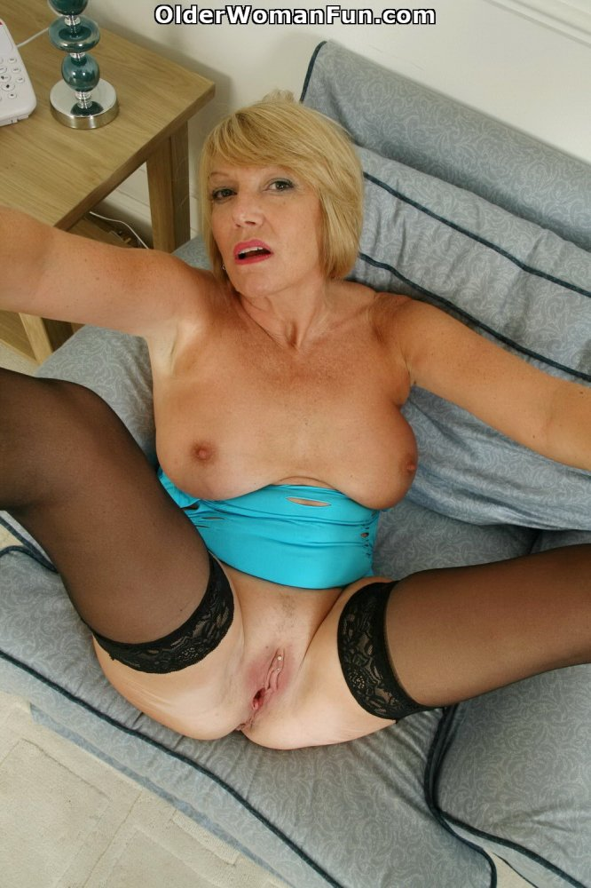 53 year old granny fucks her old pussy with a dildo - 2 part 3