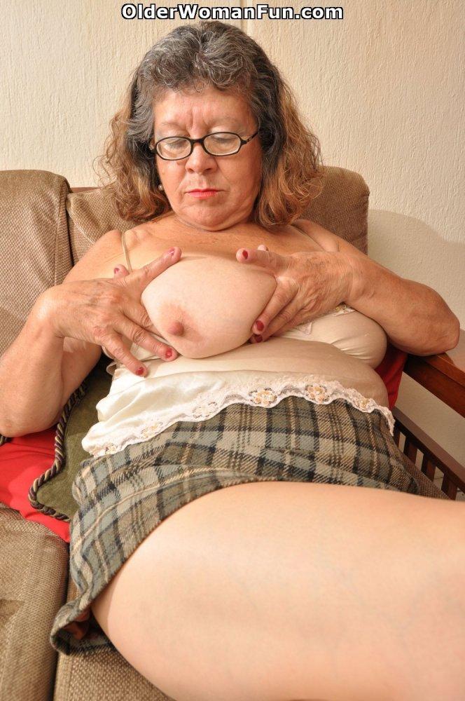 60 Year Old Granny Brenda Comes Home From Bingo Night -9306